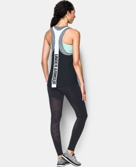 Women's UA Mesh Wordmark Tank  1 Color $23.99
