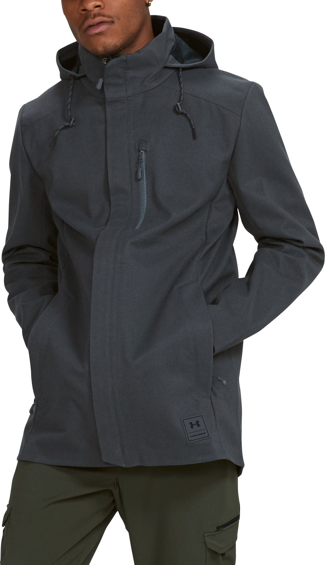 Men's UA Storm Wool Town Coat, RHINO GRAY