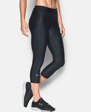 New Arrival  Women's UA HeatGear® Armour Printed Capri LIMITED TIME: FREE SHIPPING 1 Color $33.99