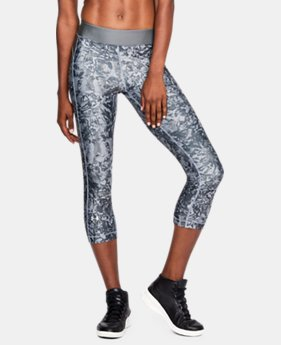 Women's UA HeatGear® Armour Printed Capris  2 Colors $29.99