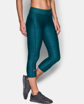 Women's UA HeatGear® Armour Printed Capris  1 Color $29.99