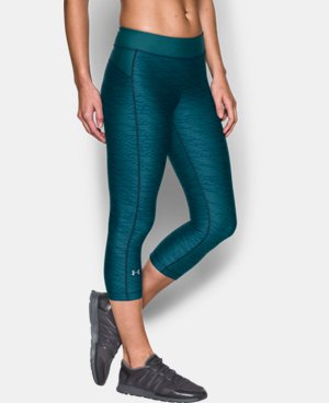 Women's UA HeatGear® Armour Printed Capri  2 Colors $44.99
