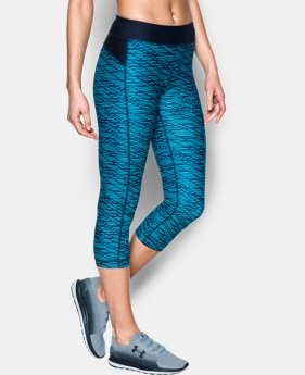 Women's UA HeatGear® Armour Printed Capris  1 Color $20.99 to $29.99