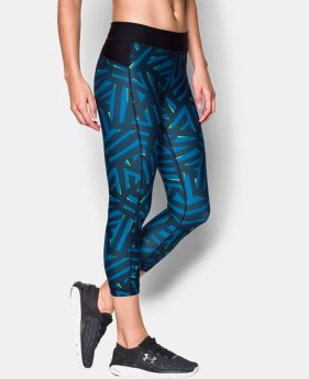 New Arrival Women's UA HeatGear® Armour Printed Capri  1 Color $39.99