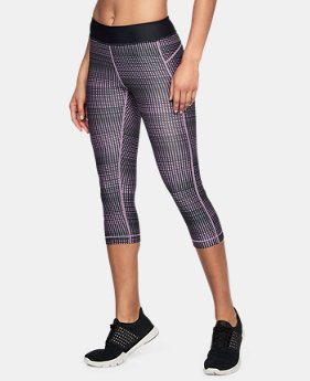 Best Seller Women's UA HeatGear® Armour Printed Capris  5 Colors $39.99