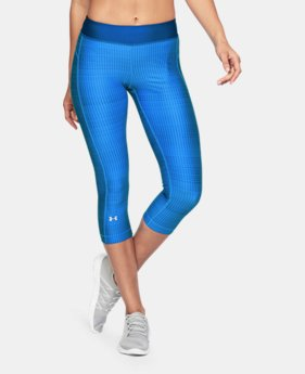 Best Seller Women's UA HeatGear® Armour Printed Capris  4 Colors $39.99