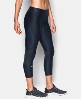 Women's UA HeatGear® Armour Printed Crop