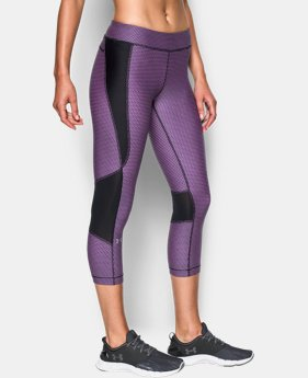 Women's UA HeatGear® Armour Printed Crop  4 Colors $49.99