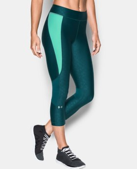 Women's UA HeatGear® Armour Printed Crop LIMITED TIME: FREE U.S. SHIPPING 1 Color $28.49 to $37.99