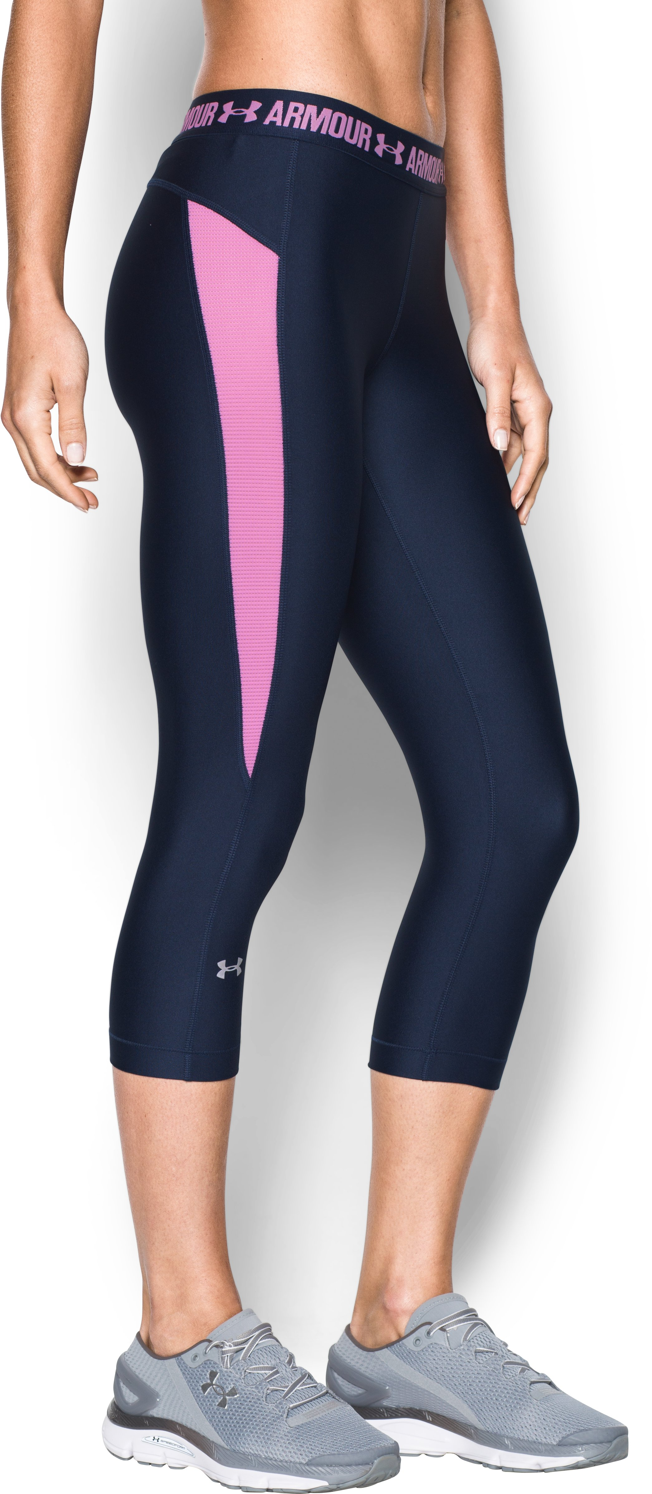 Women's UA CoolSwitch Capri, Midnight Navy, undefined