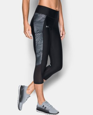 Women's UA Fly-By Printed Capri LIMITED TIME: FREE U.S. SHIPPING 4 Colors $31.49 to $41.99