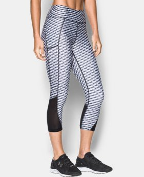 Best Seller Women's UA Fly-By Printed Capri  4 Colors $54.99