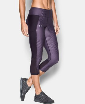 Women's UA Fly-By Printed Capris  1 Color $30.99 to $41.99
