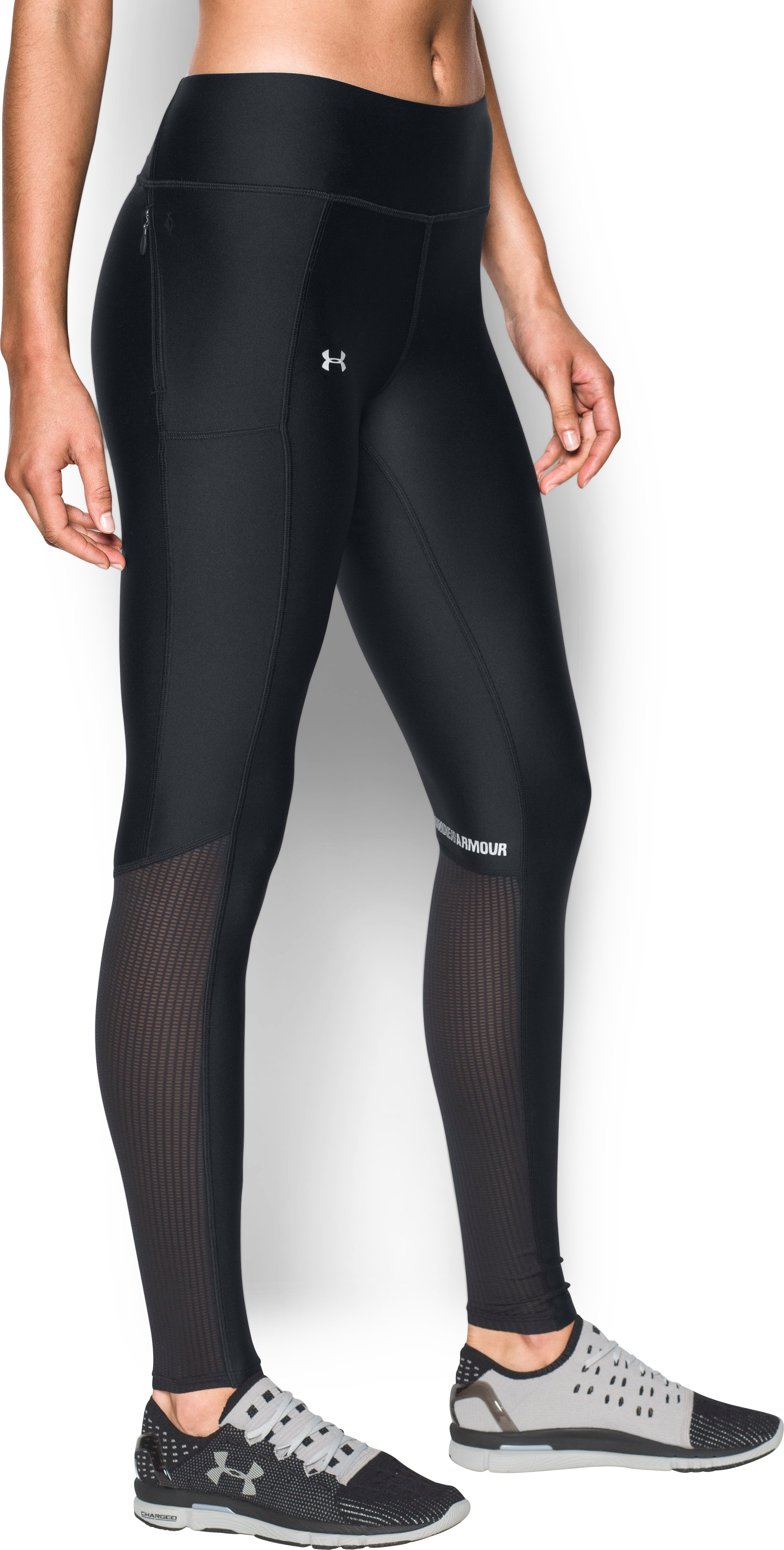 Women's UA Fly-By Leggings, Black , undefined