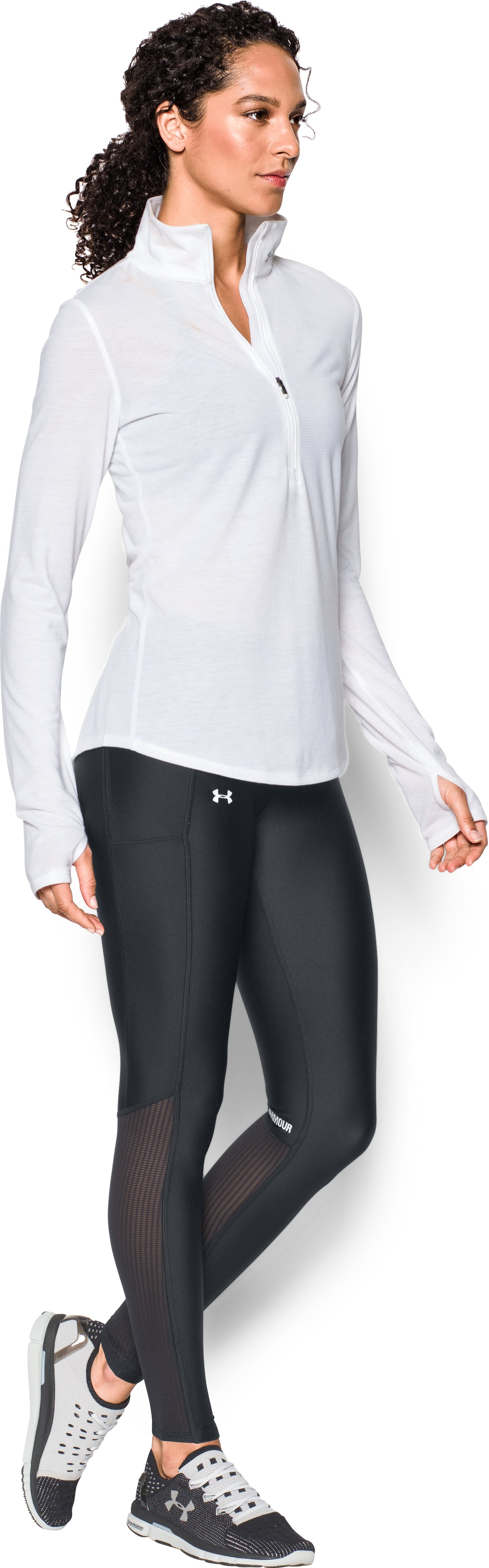 Women's UA Fly-By Leggings, Black , Front