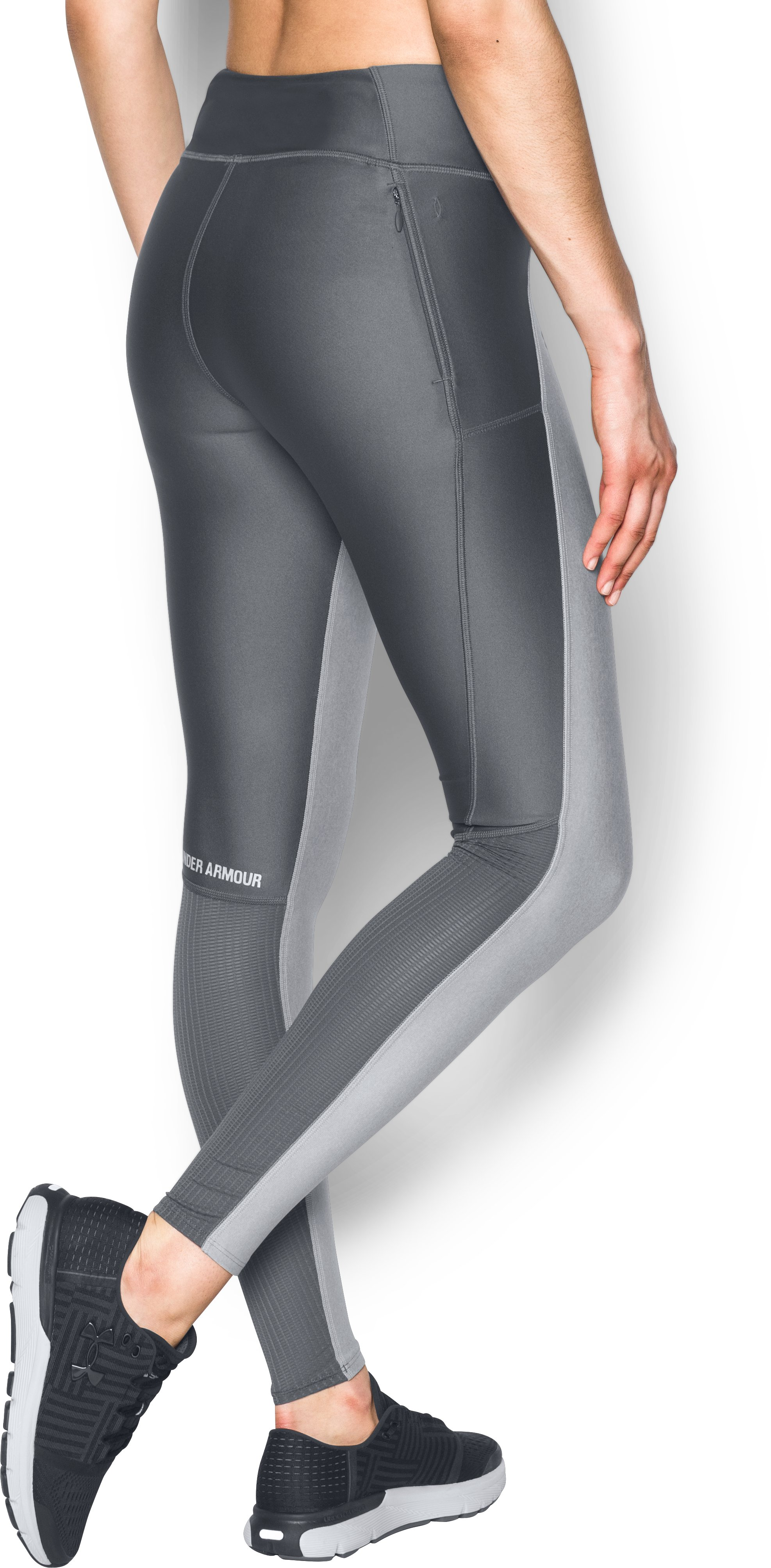 Women's UA Fly-By Leggings, True Gray Heather,