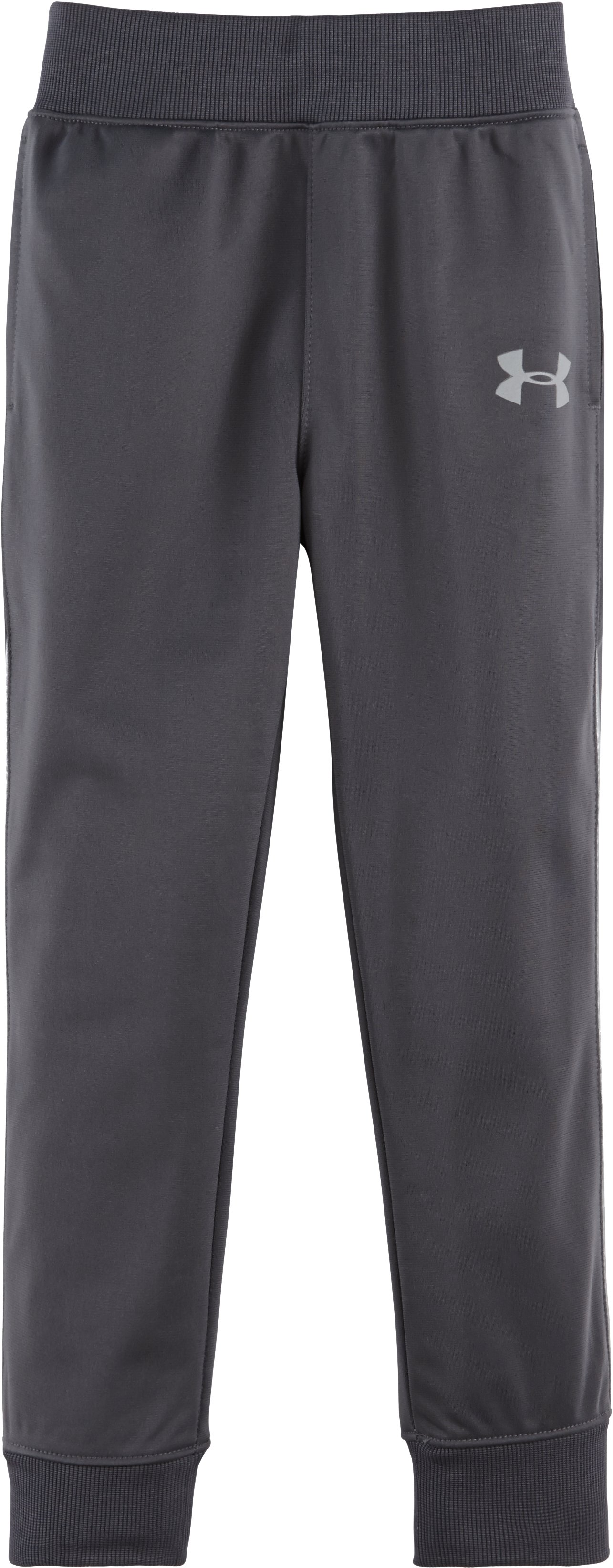 Boys' Newborn UA Pennant Tapered Pants, STEALTH GRAY, Laydown