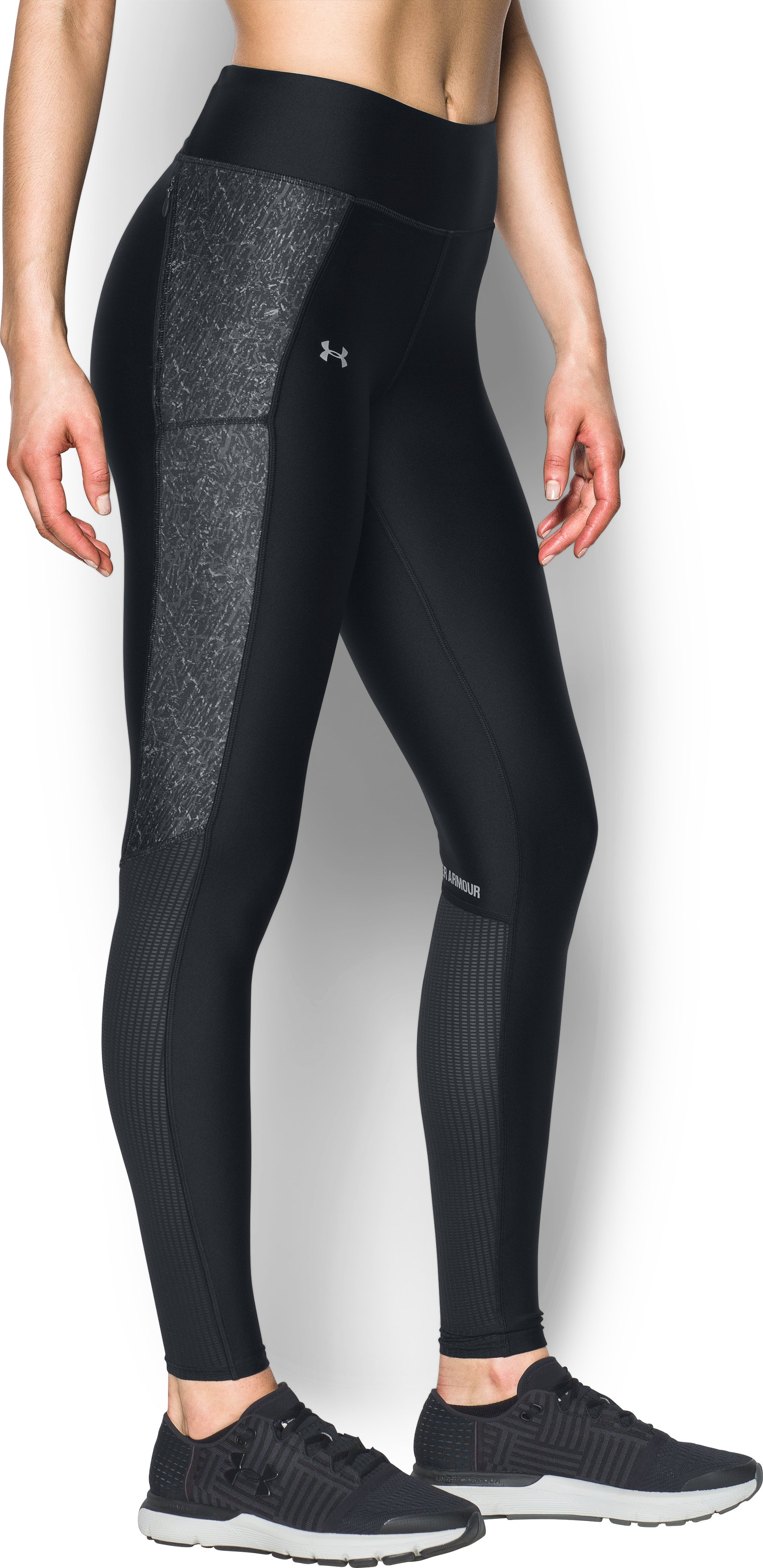 Women's UA Fly-By Printed Leggings, Black