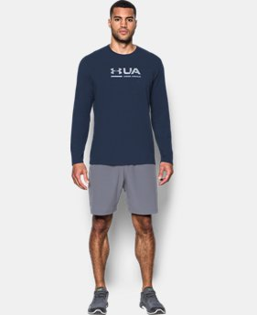 New Arrival  Men's UA Shift Center Chest Long Sleeve T-Shirt  1 Color $26.24 to $34.99