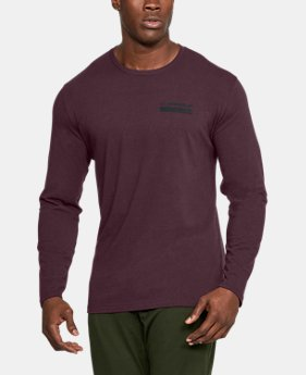 Best Seller Men's UA Back Graphic Long Sleeve T-Shirt  1 Color $29.99
