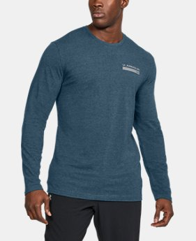 New Arrival  Men's UA Back Graphic Long Sleeve T-Shirt  2 Colors $34.99