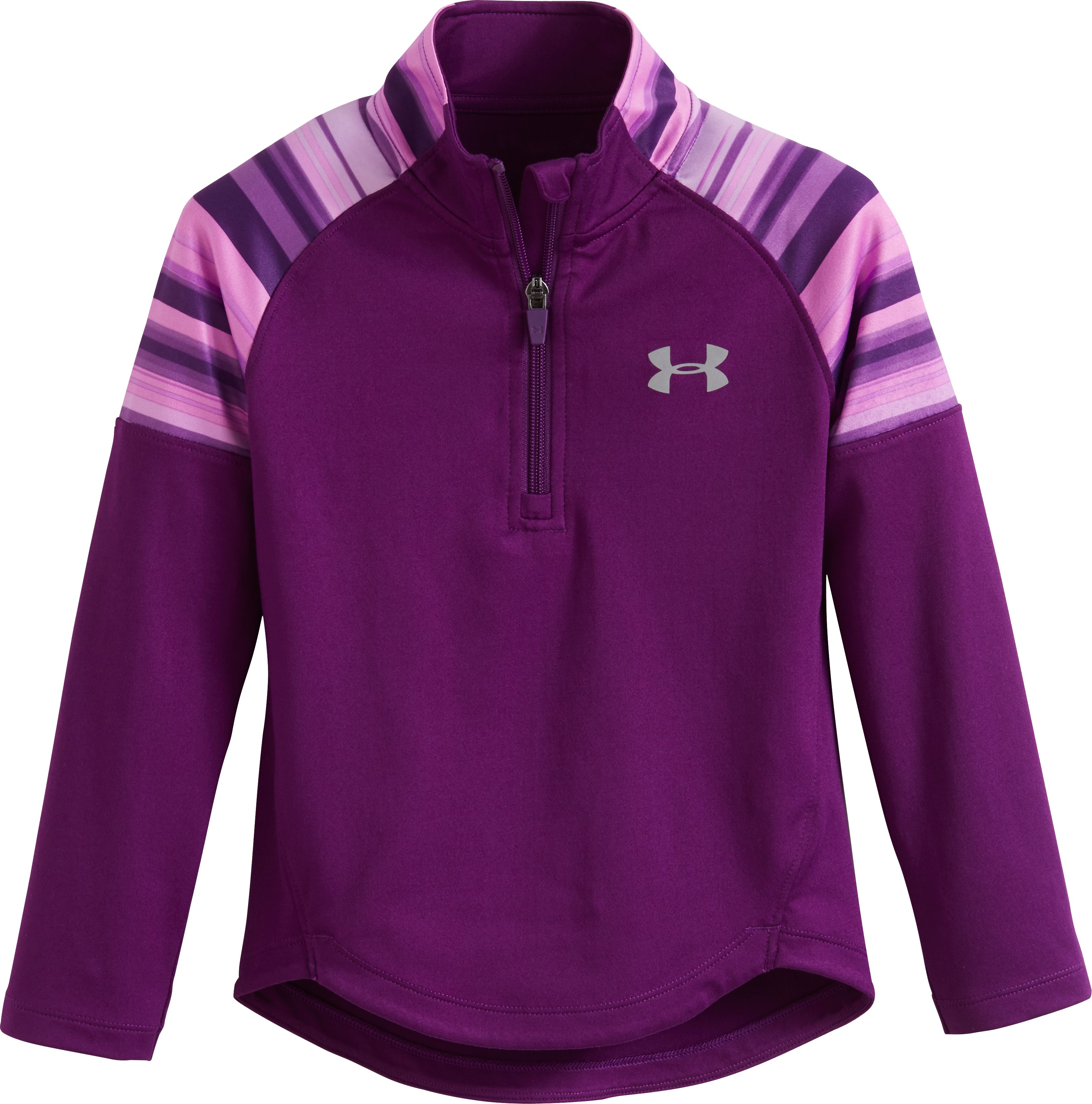 Girls' Infant UA Blurred Stripe 1/4 Zip, Hendrix, zoomed image