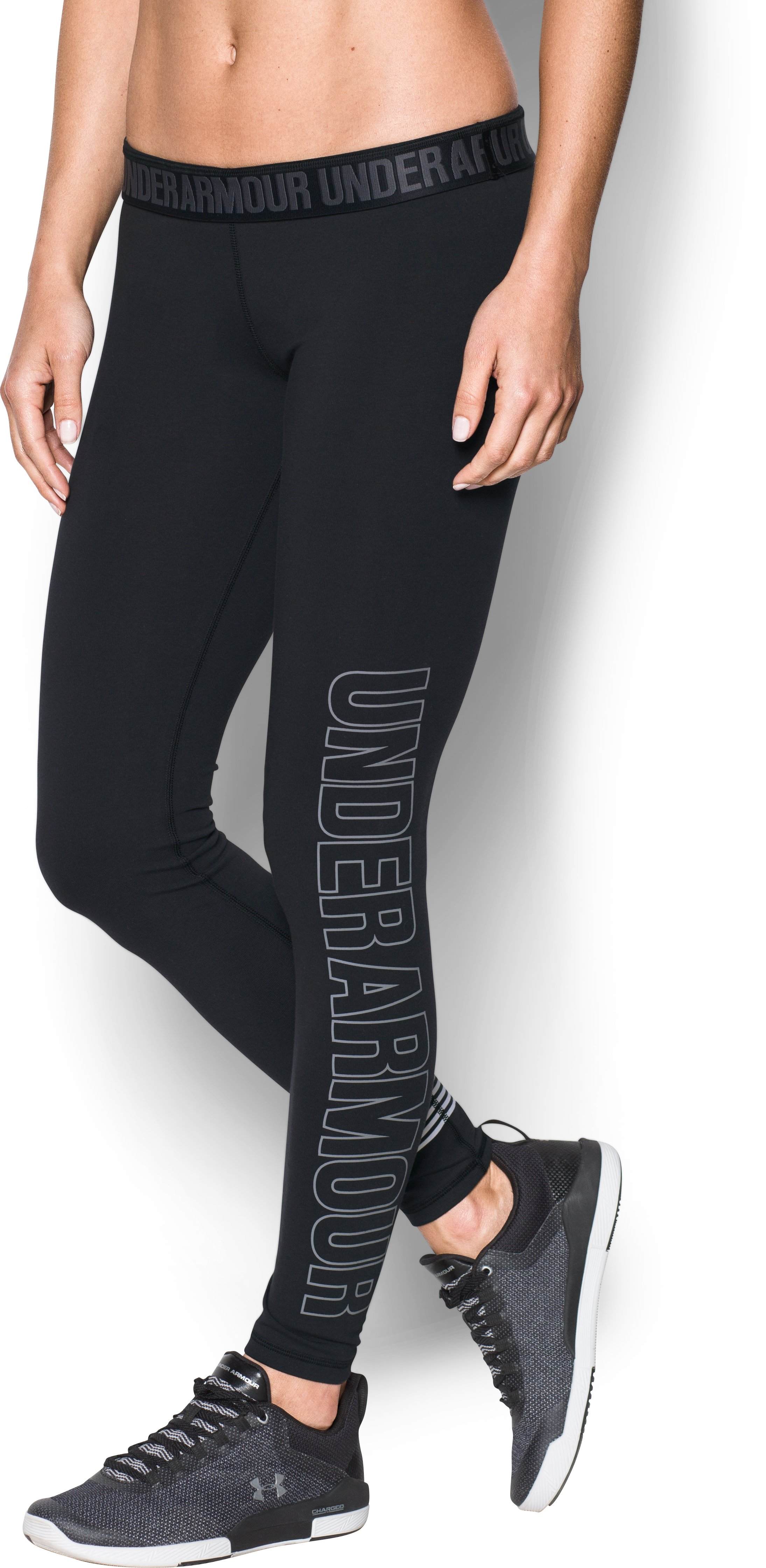 Women's UA Favorite Graphic Leggings, Black , undefined