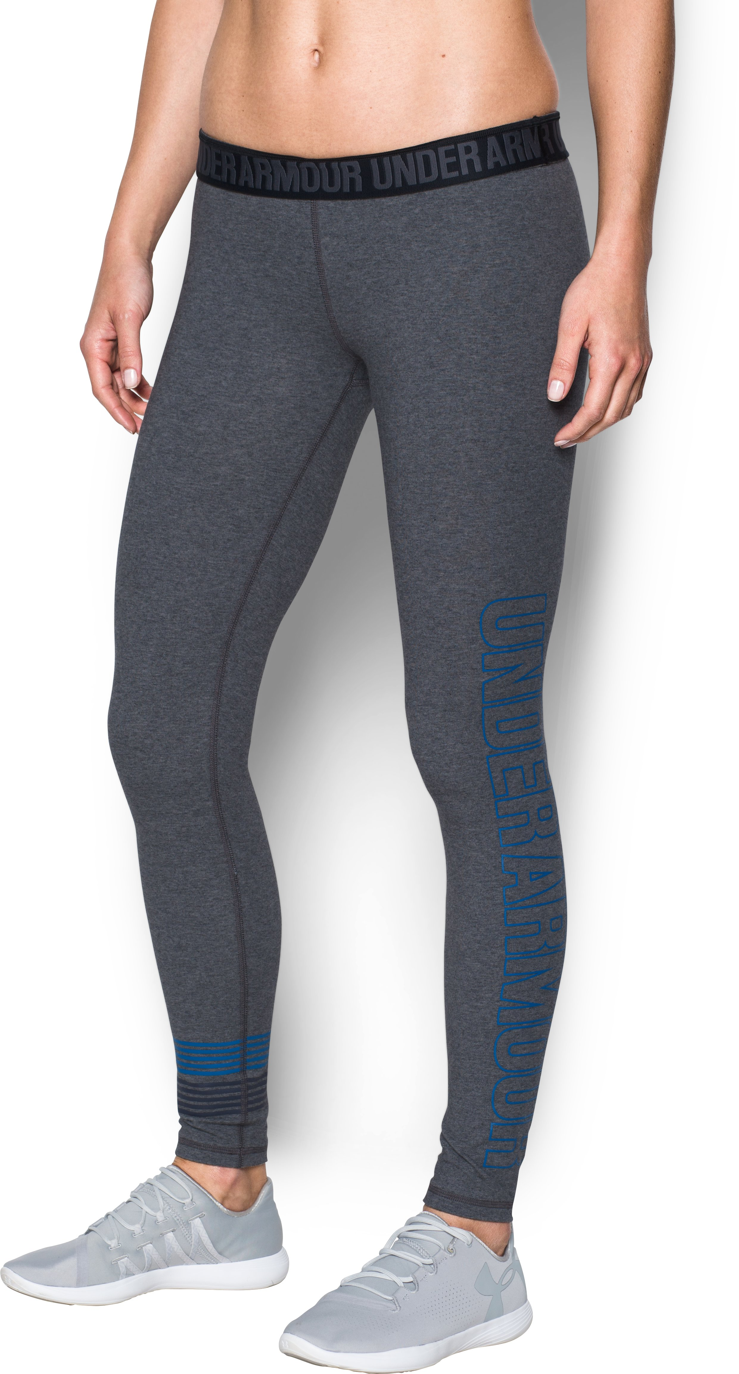 Women's UA Favorite Graphic Leggings, Carbon Heather, undefined