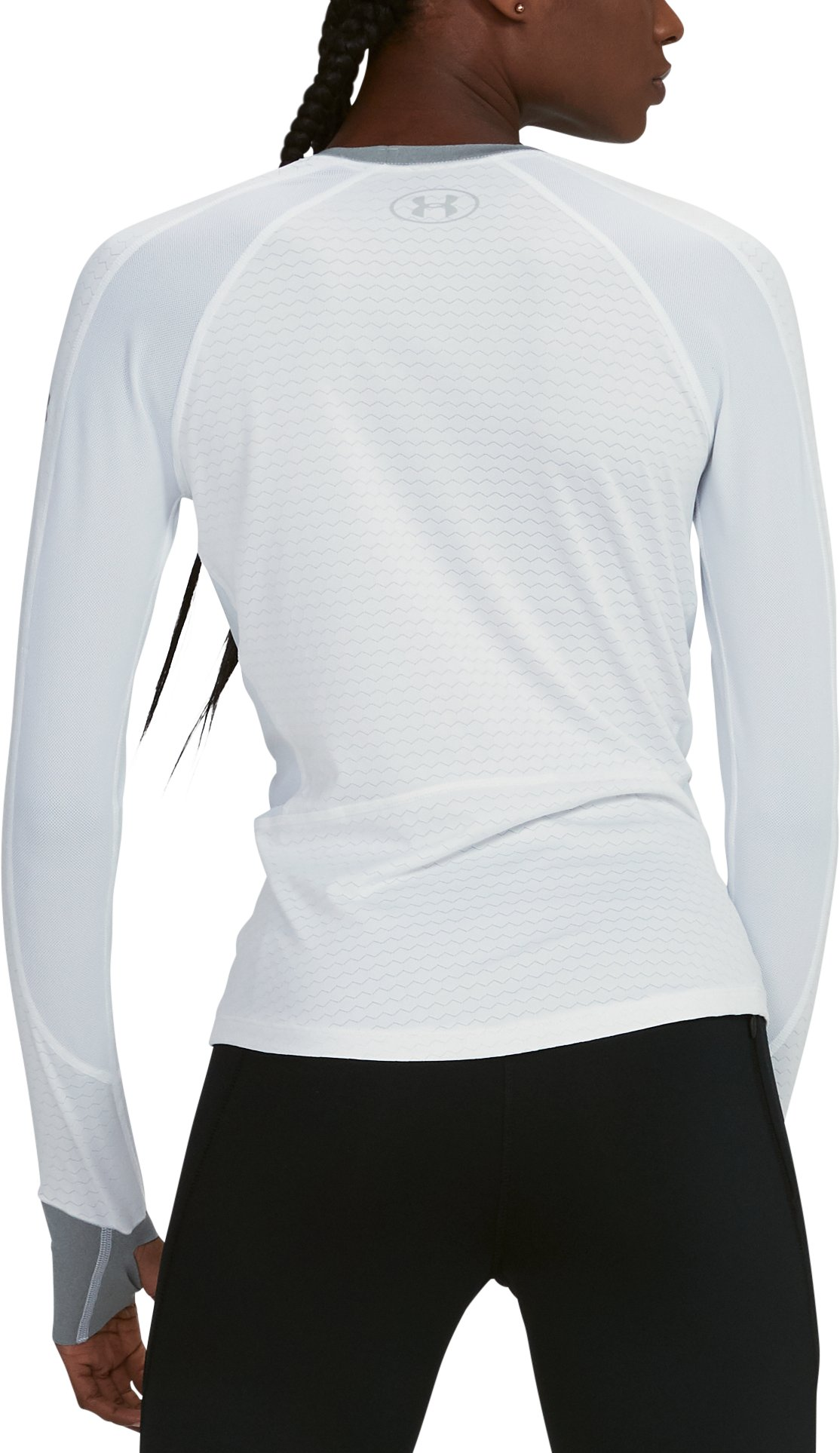 Women's UA HexDelta Long Sleeve, White,