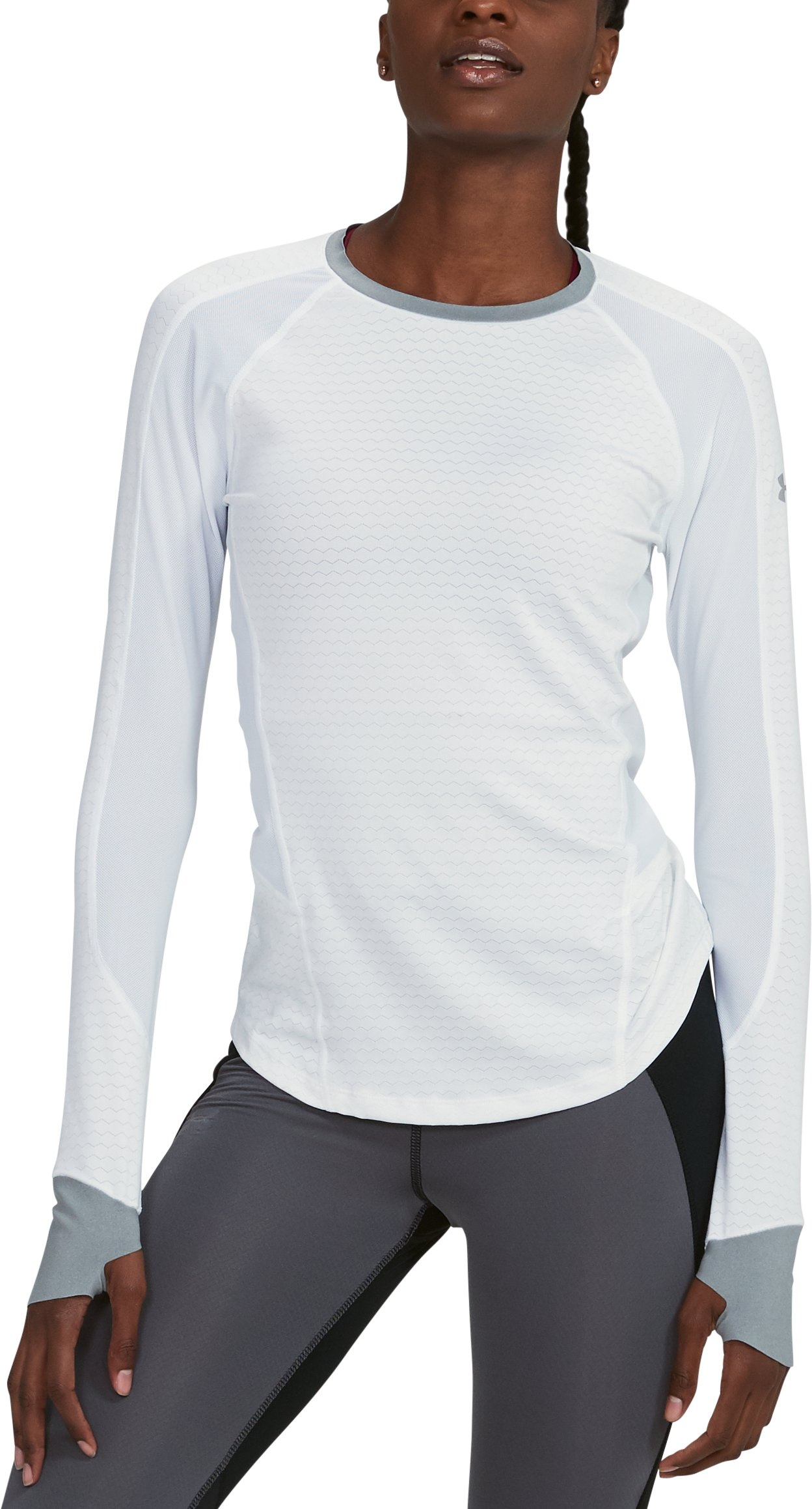 Women's UA HexDelta Long Sleeve, White