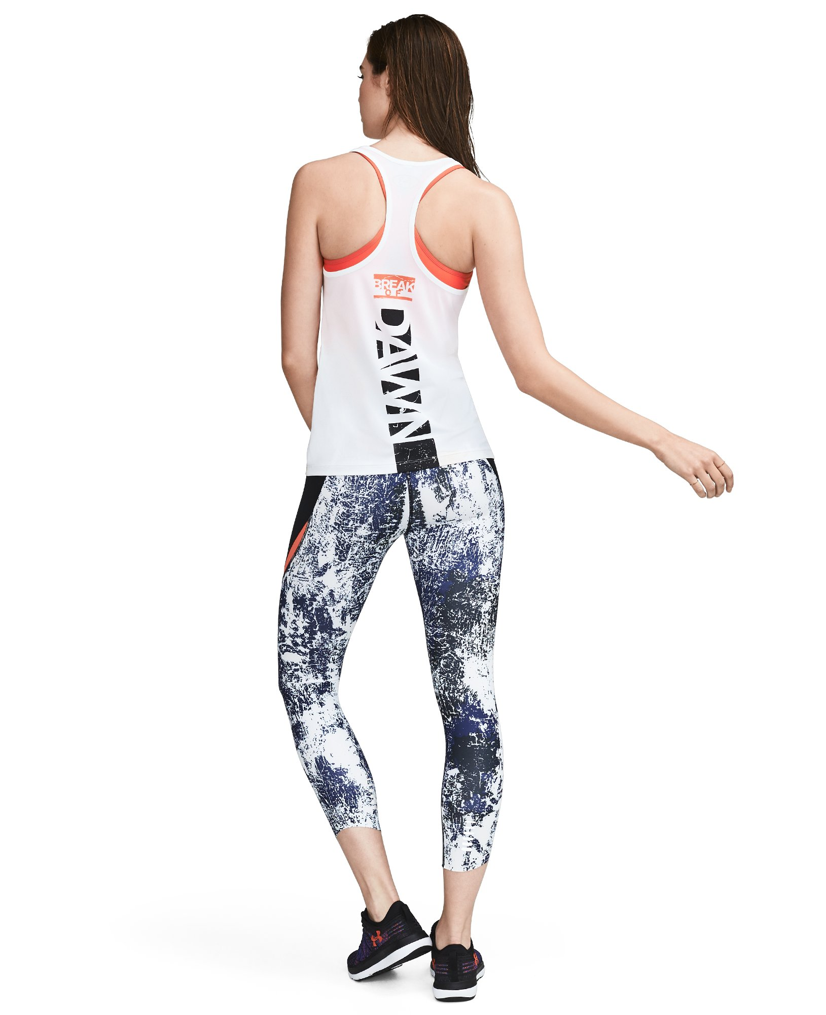 Women's UA Break Of Dawn Racer Tank, White, zoomed image