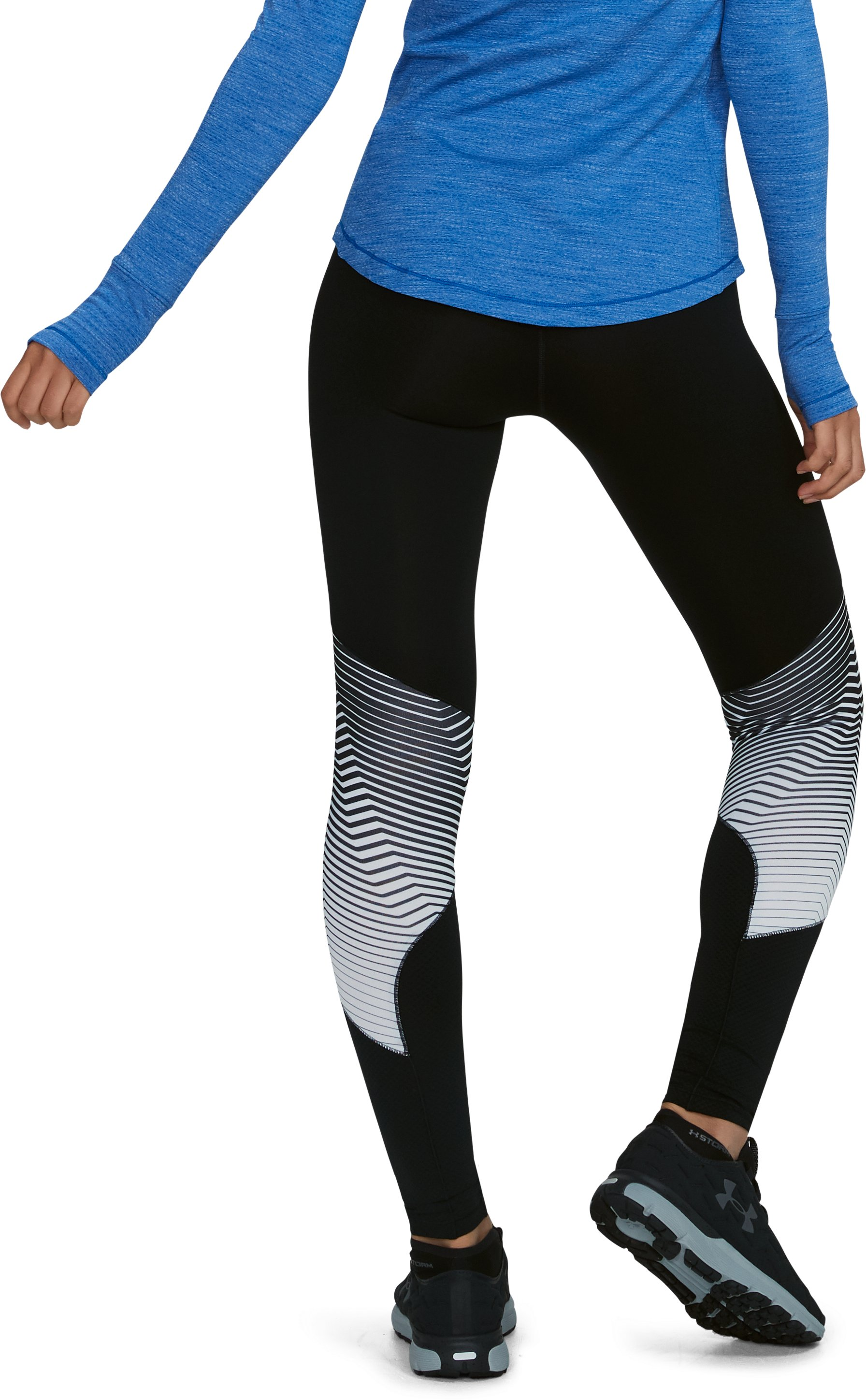 Women's ColdGear® Reactor Graphic Leggings, Black ,