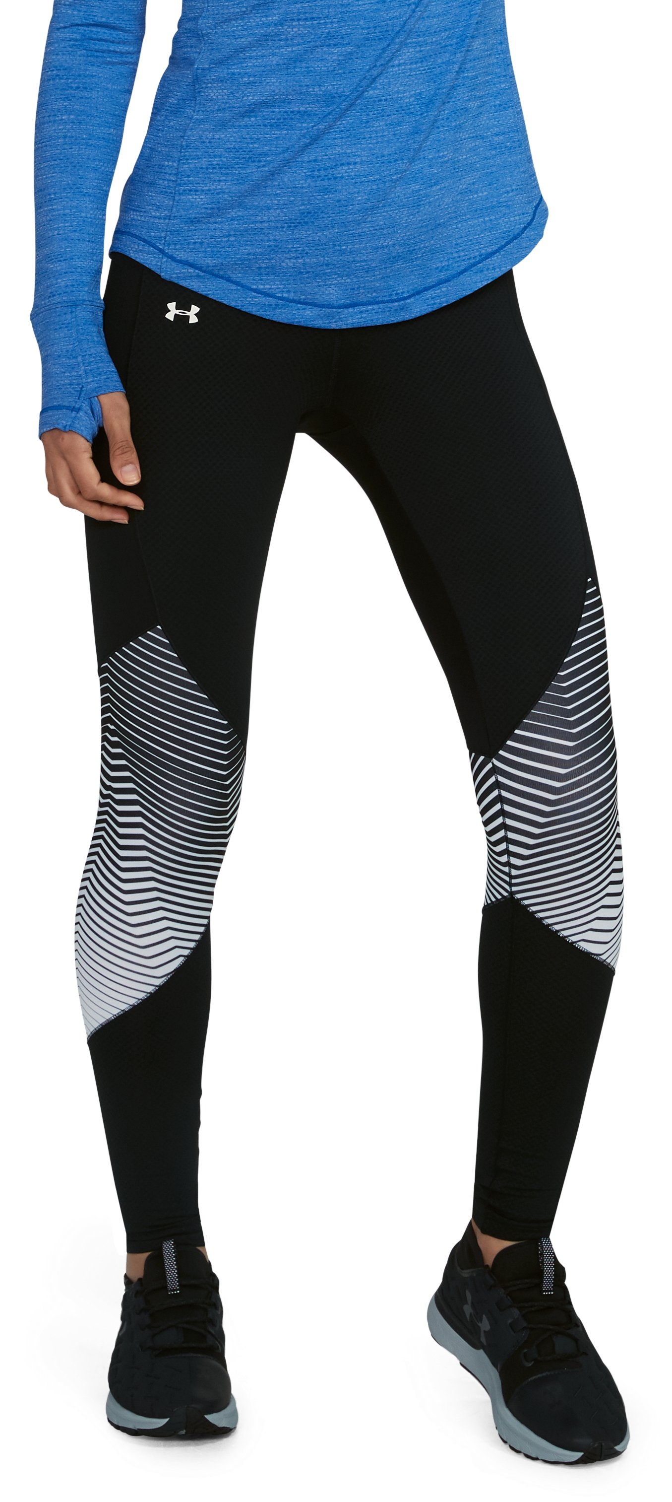 Women's ColdGear® Reactor Graphic Leggings, Black , undefined