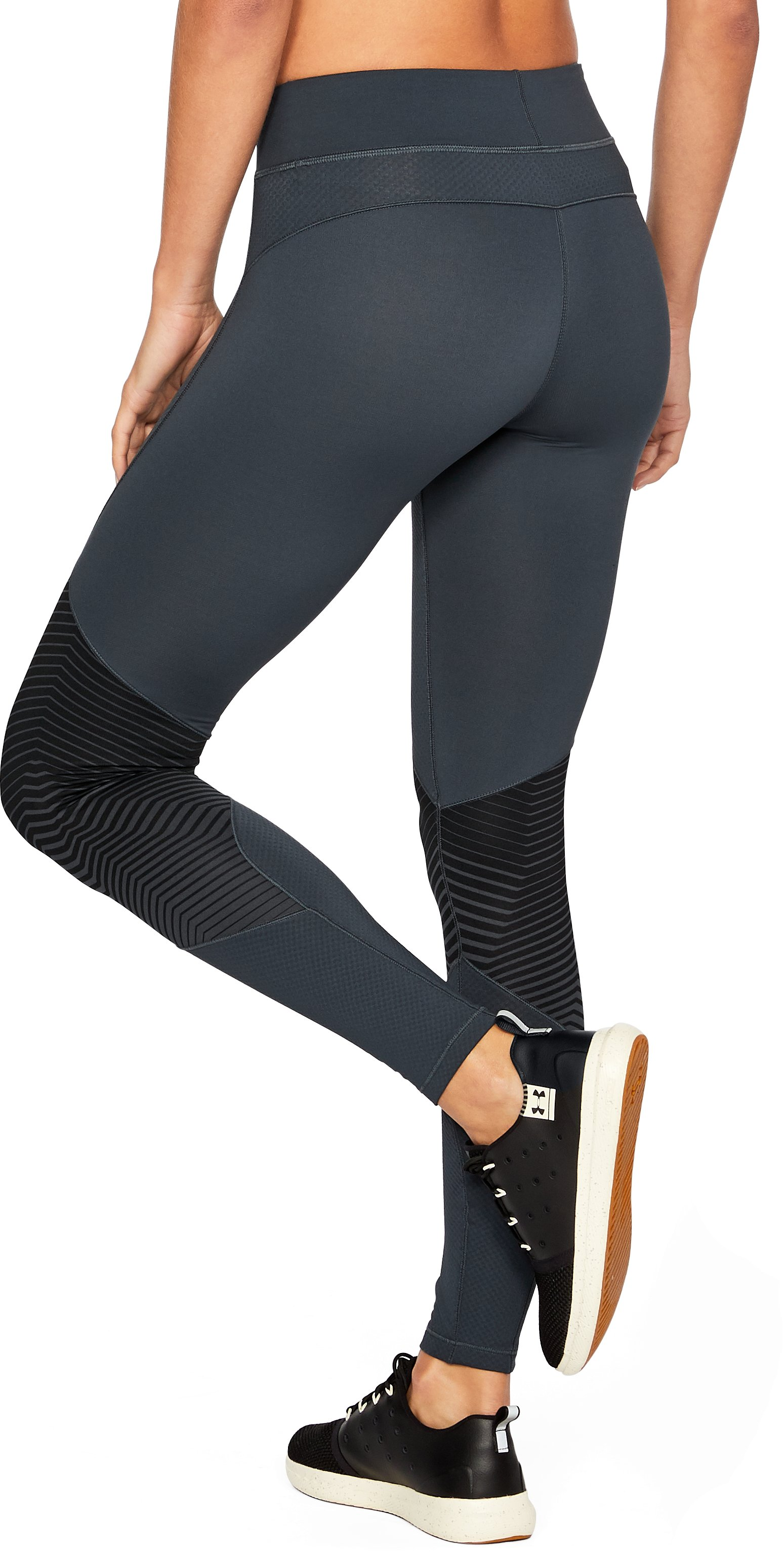 Women's ColdGear® Reactor Graphic Leggings, STEALTH GRAY, undefined