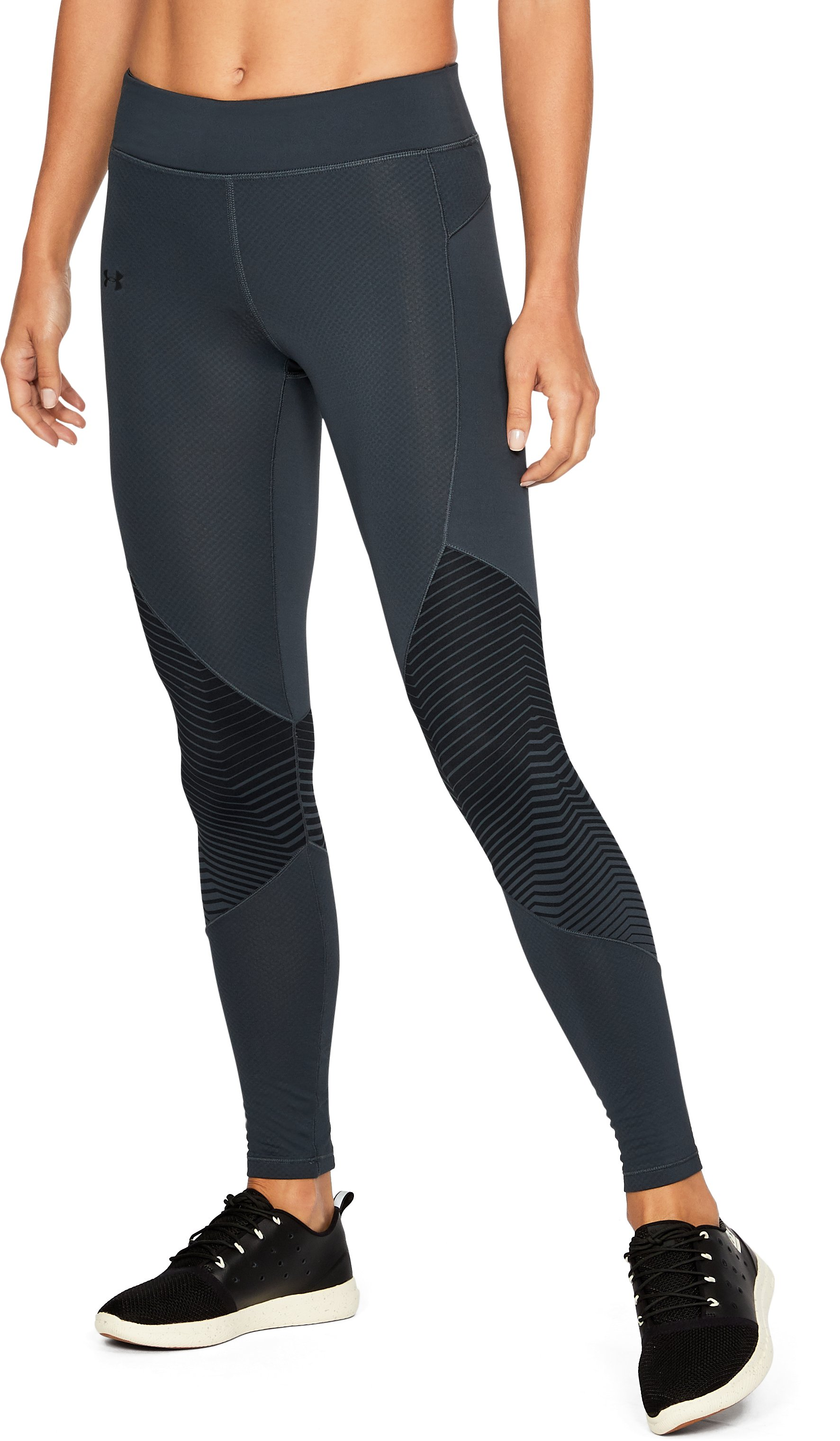 Women's ColdGear® Reactor Graphic Leggings, STEALTH GRAY