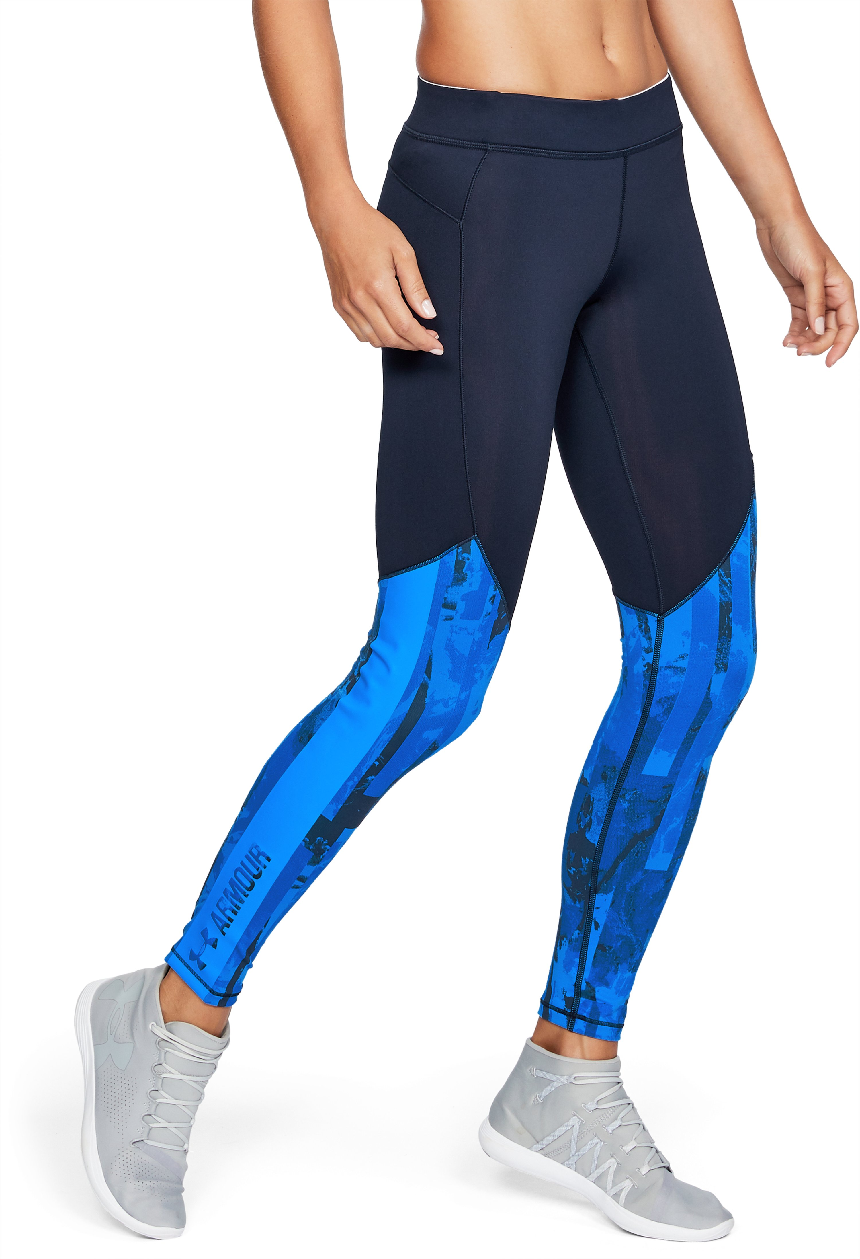 Women's ColdGear® Armour Printed Leggings, Midnight Navy