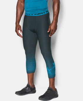 Men's HeatGear® Armour Graphic ¾ Leggings  3 Colors $24.49