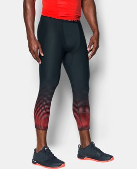 Men's HeatGear® Armour Graphic ¾ Leggings  6 Colors $34.99