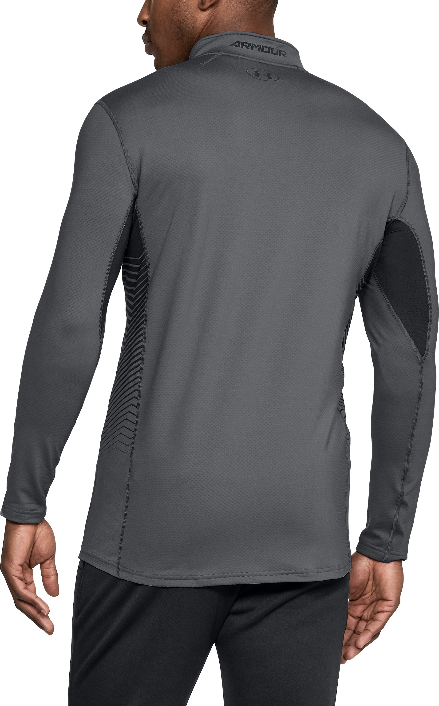 Men's ColdGear® Reactor Fitted ¼ Zip, Graphite, undefined