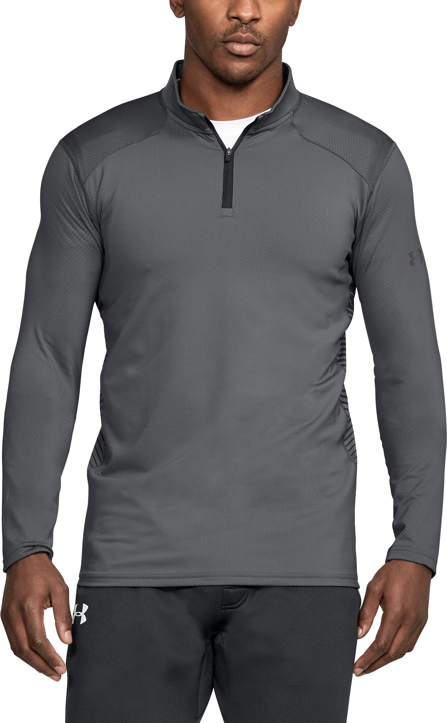 Men's ColdGear® Reactor Fitted ¼ Zip, Graphite