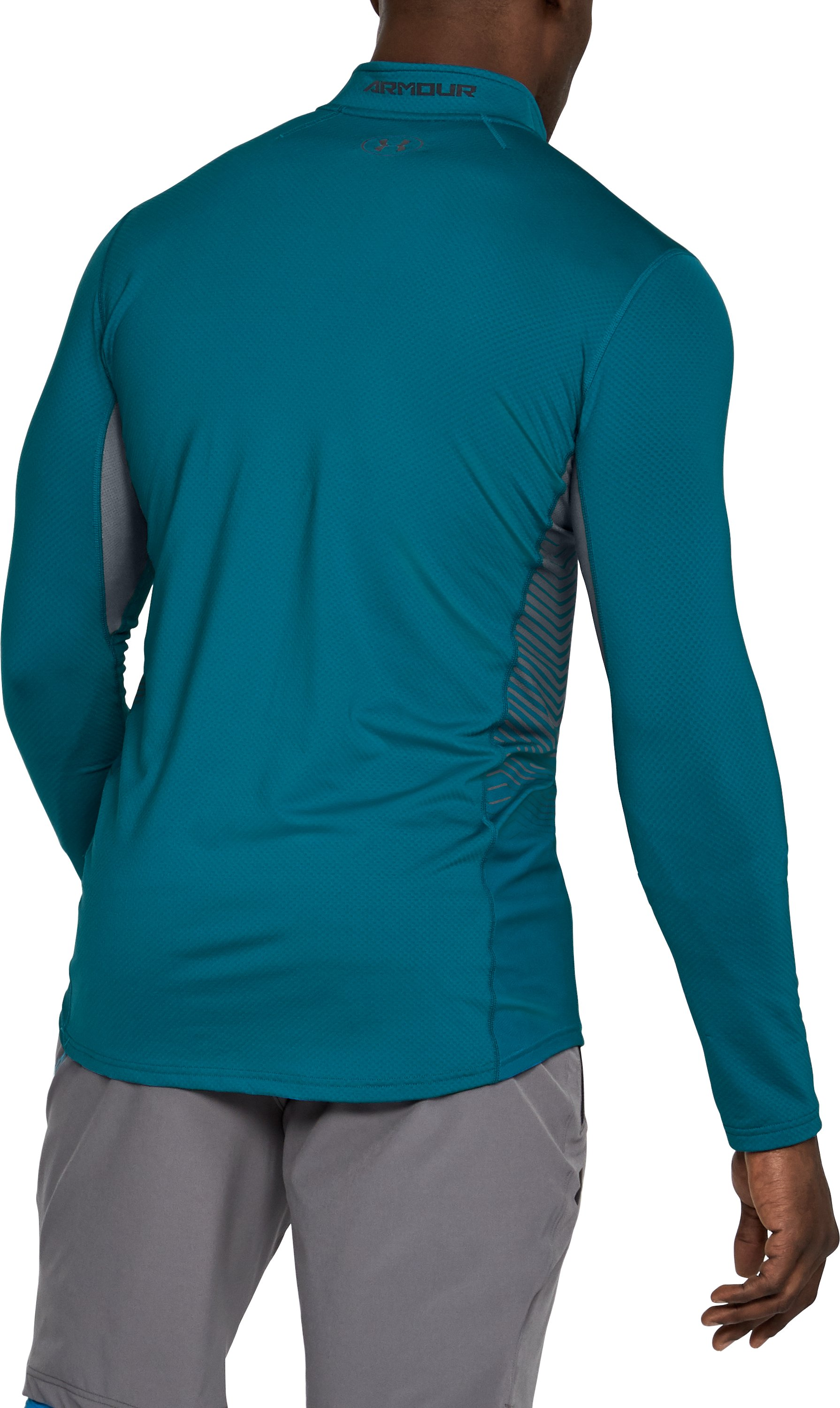 Men's ColdGear® Reactor Fitted ¼ Zip, BAYOU BLUE,