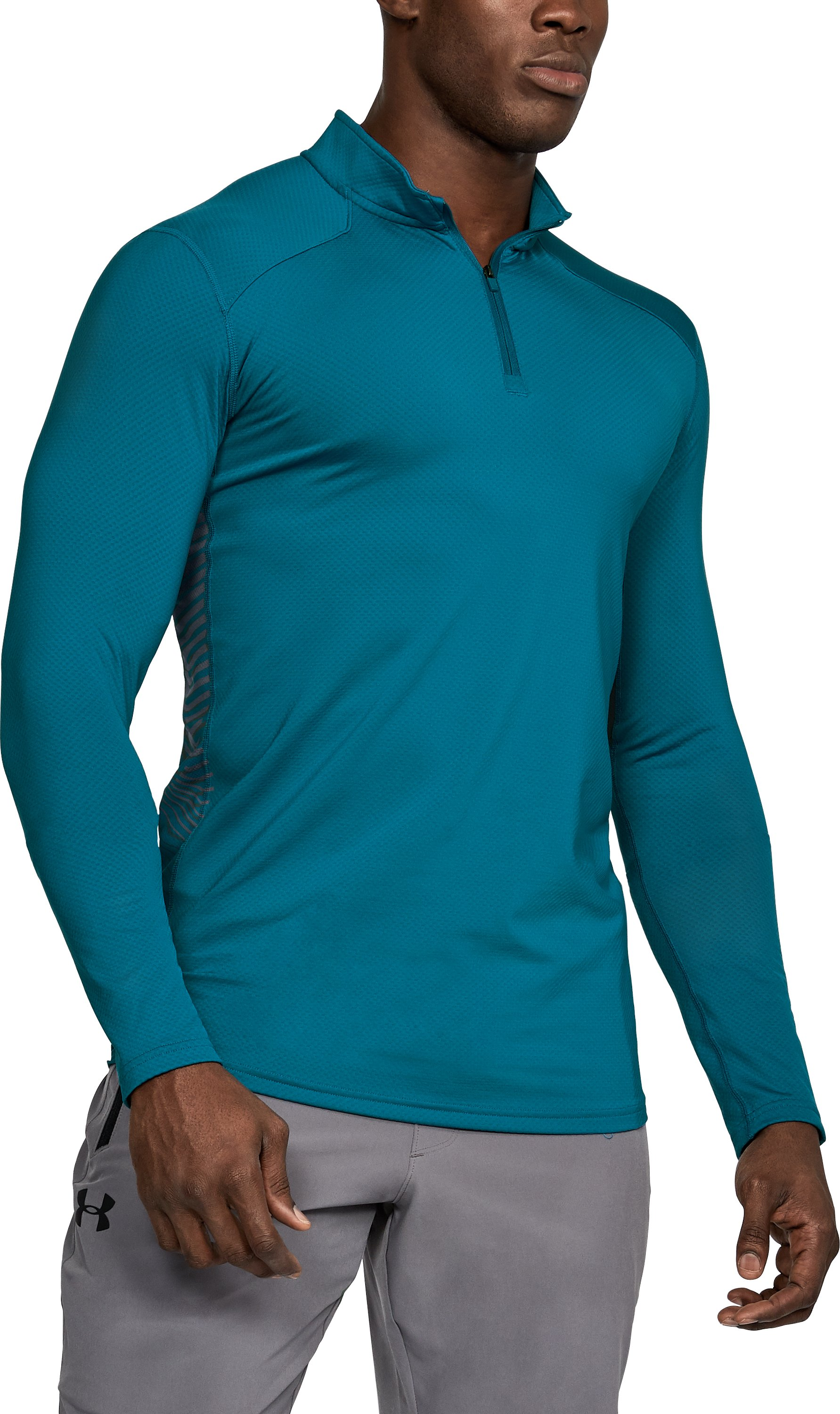 Men's ColdGear® Reactor Fitted ¼ Zip, BAYOU BLUE