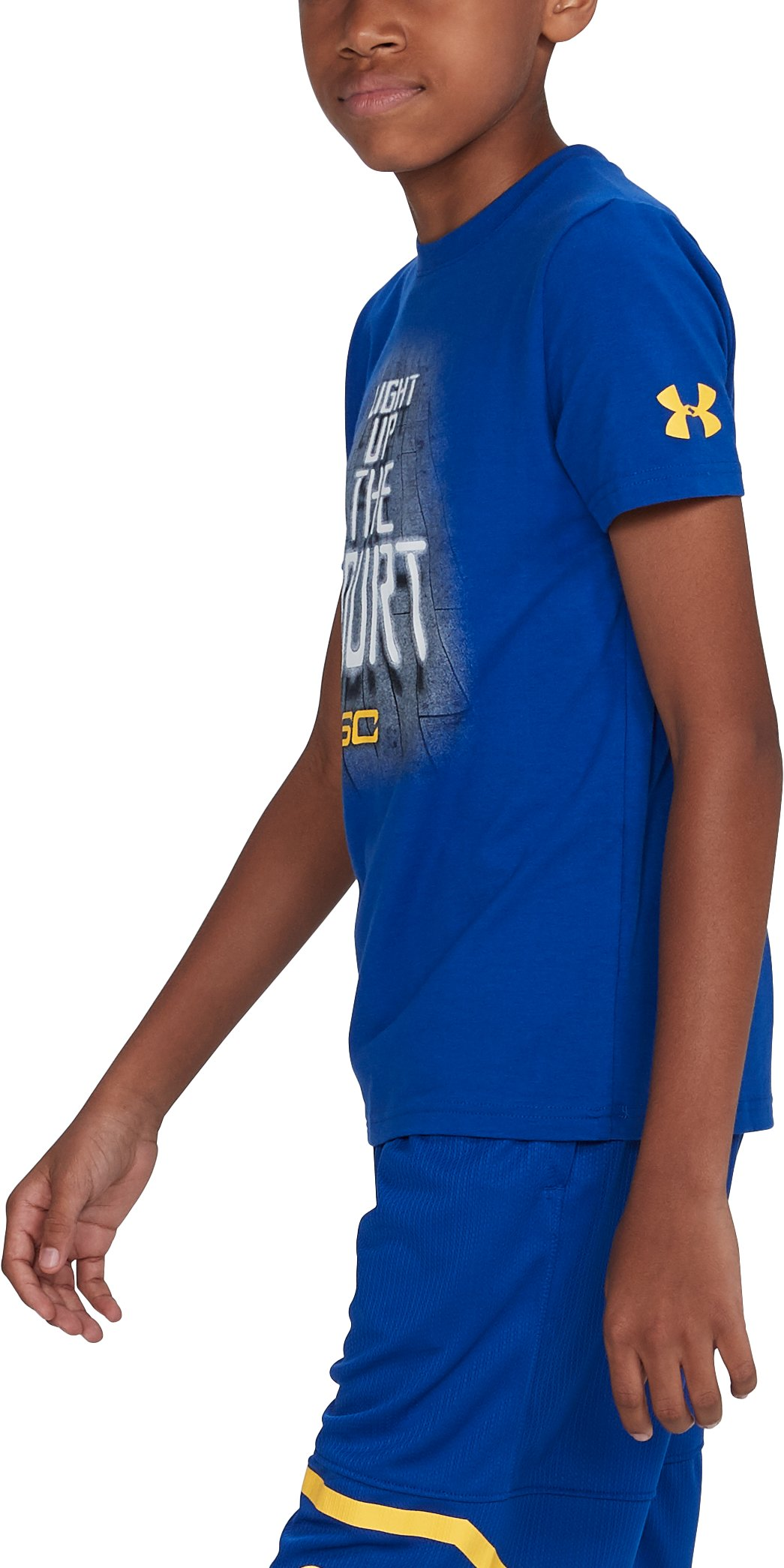 Boys' SC30 Light Up The Court T-Shirt, Royal, undefined