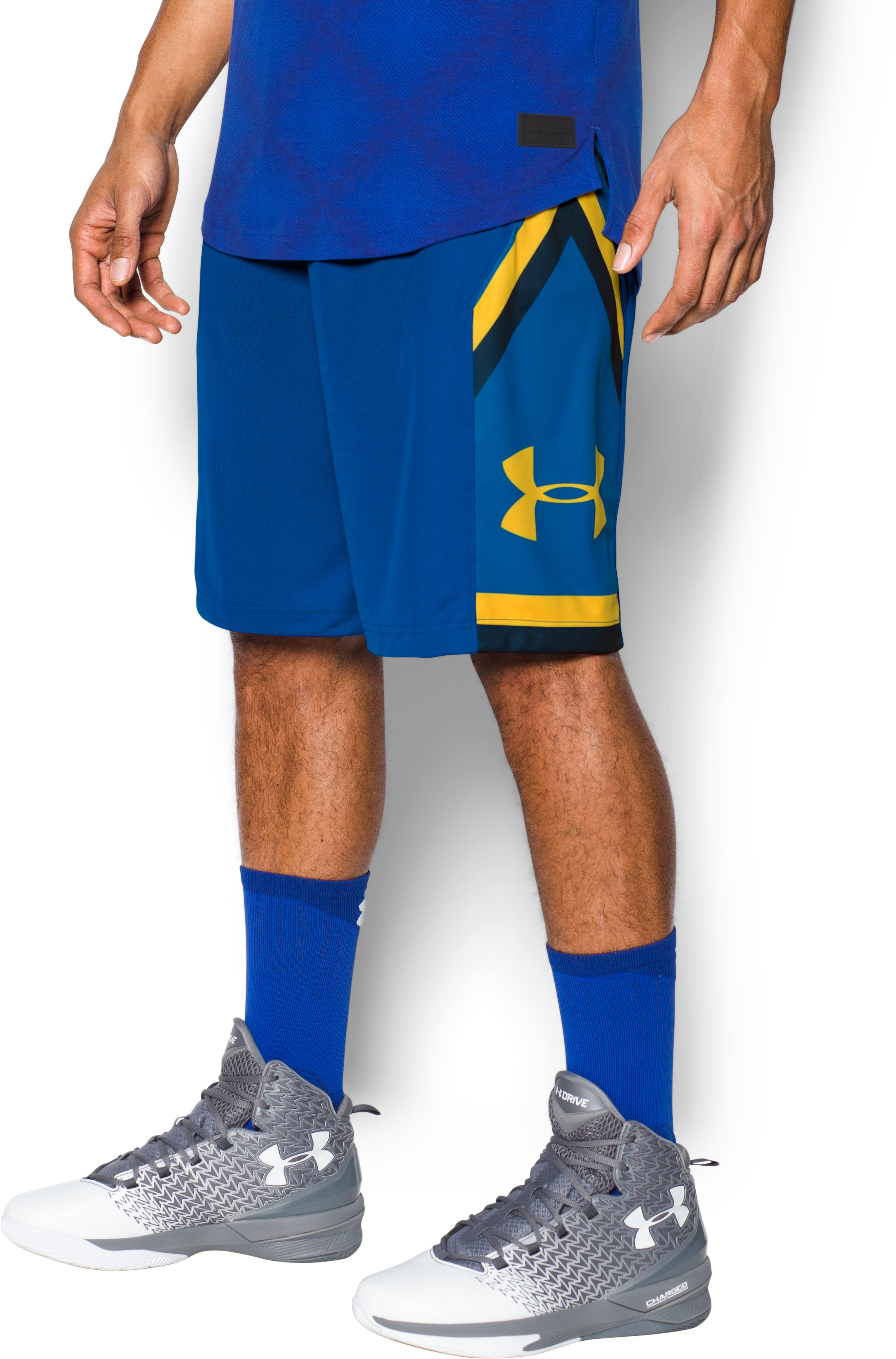 Men's UA Space the Floor Shorts, Royal