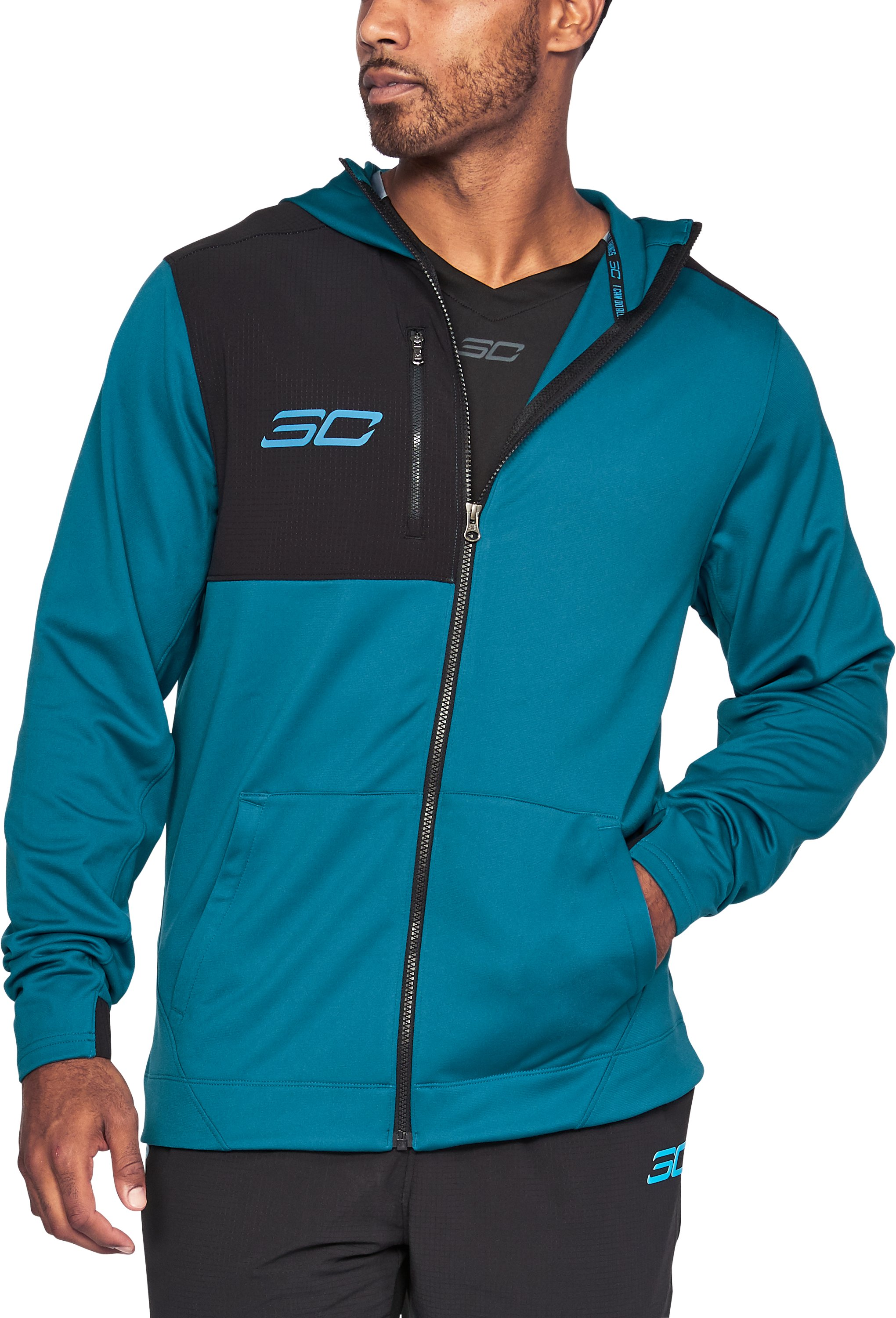 Men's SC30 Warm-Up Jacket, BAYOU BLUE