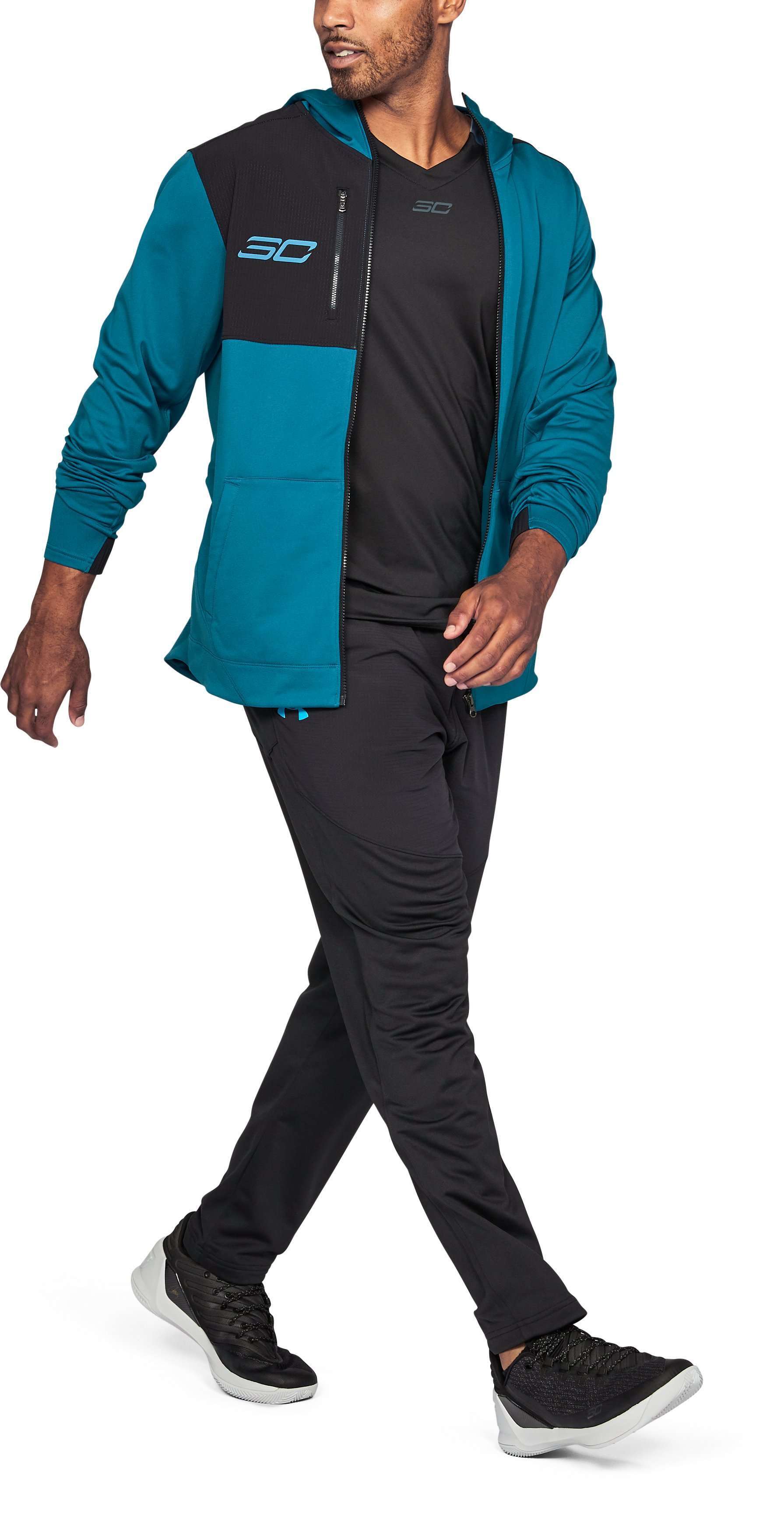 Men's SC30 Warm-Up Jacket, BAYOU BLUE,