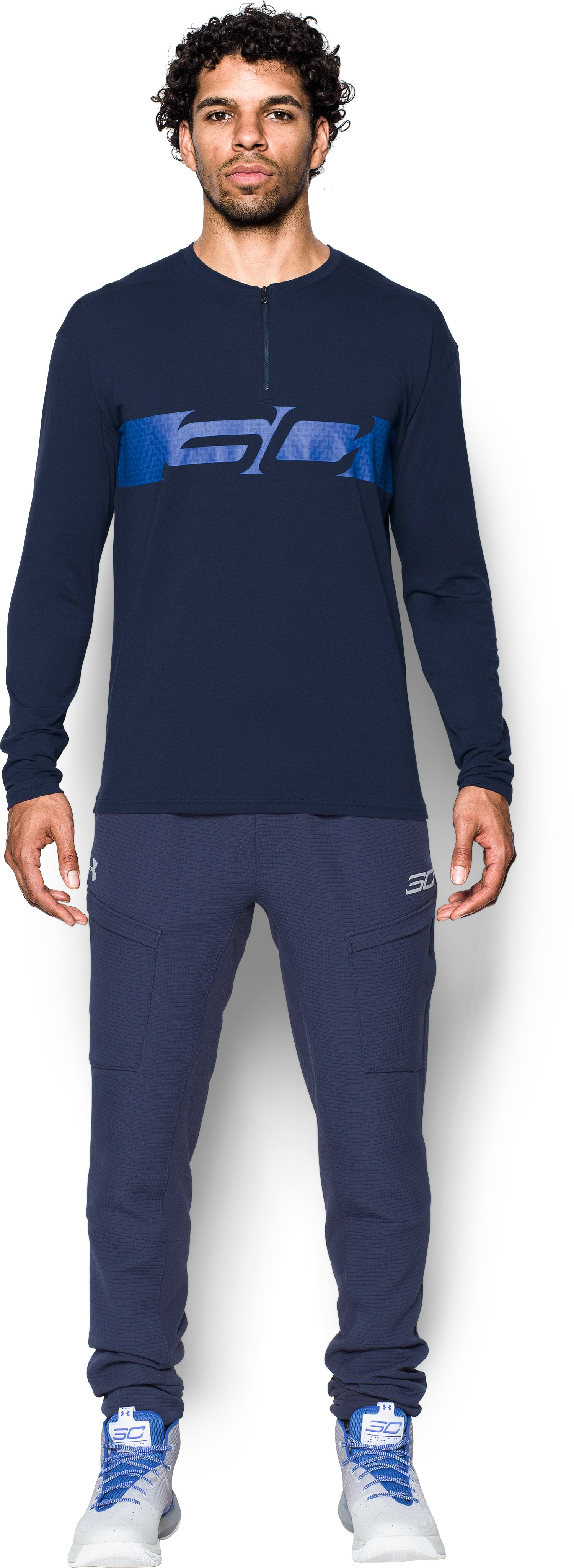 Men's SC30 ¼ Zip Crew, Midnight Navy, Front