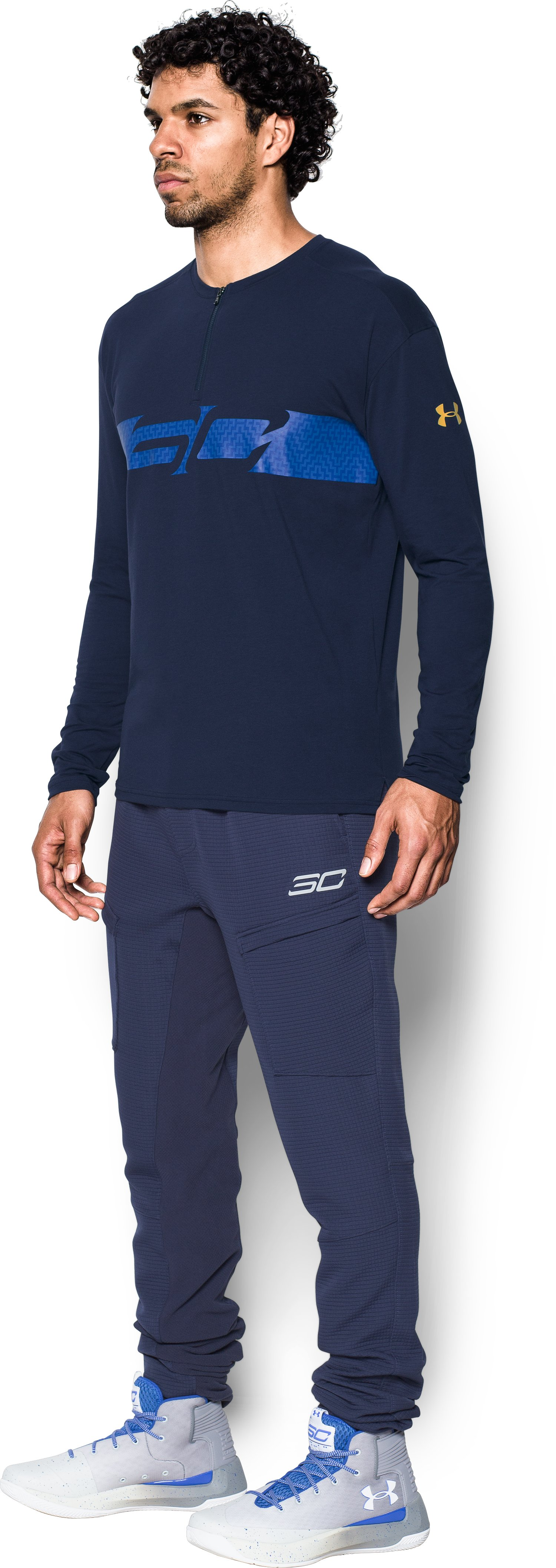 Men's SC30 ¼ Zip Crew, Midnight Navy, undefined