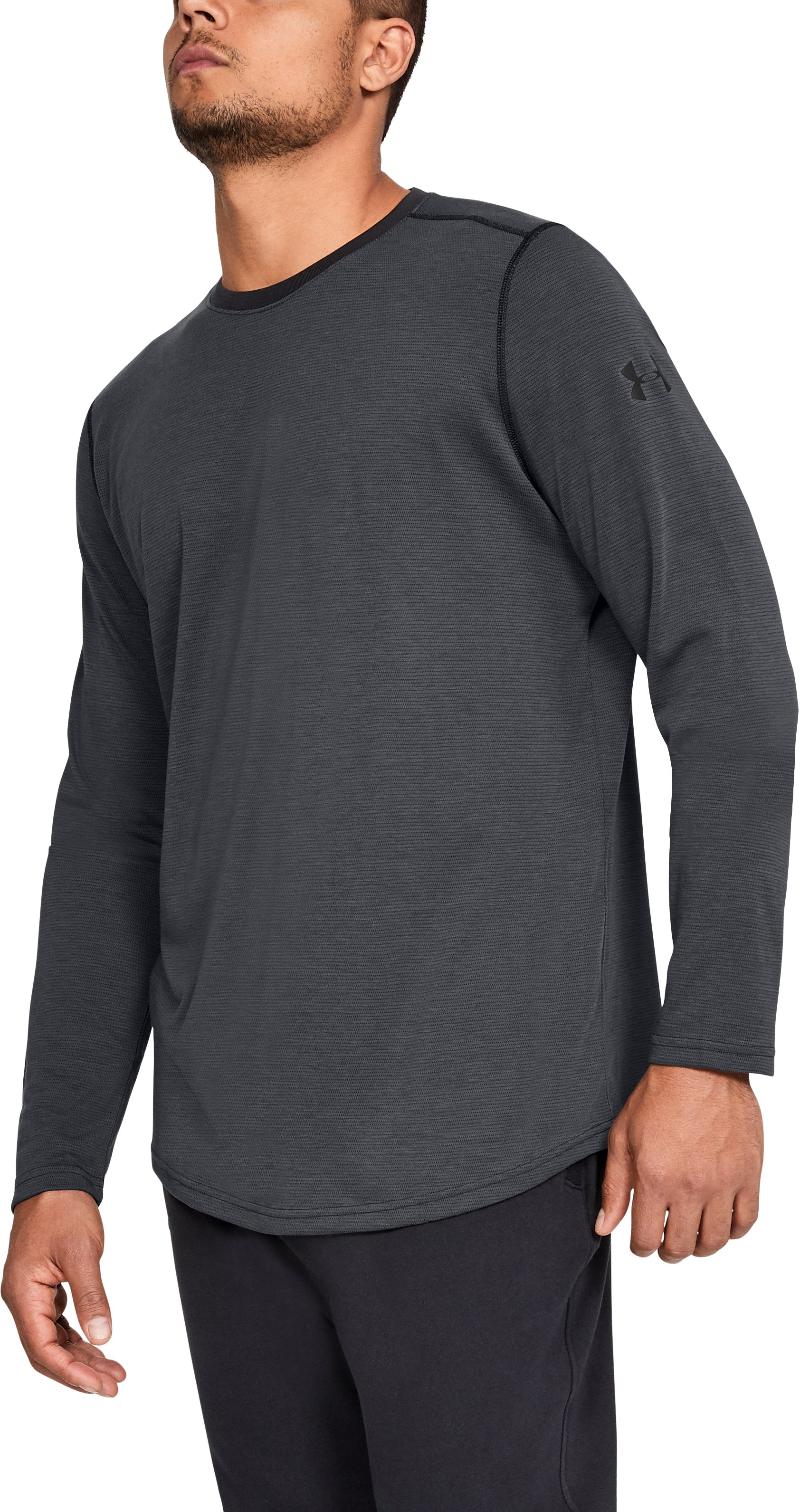 Men's UA Threadborne™ Long Sleeve, Black ,