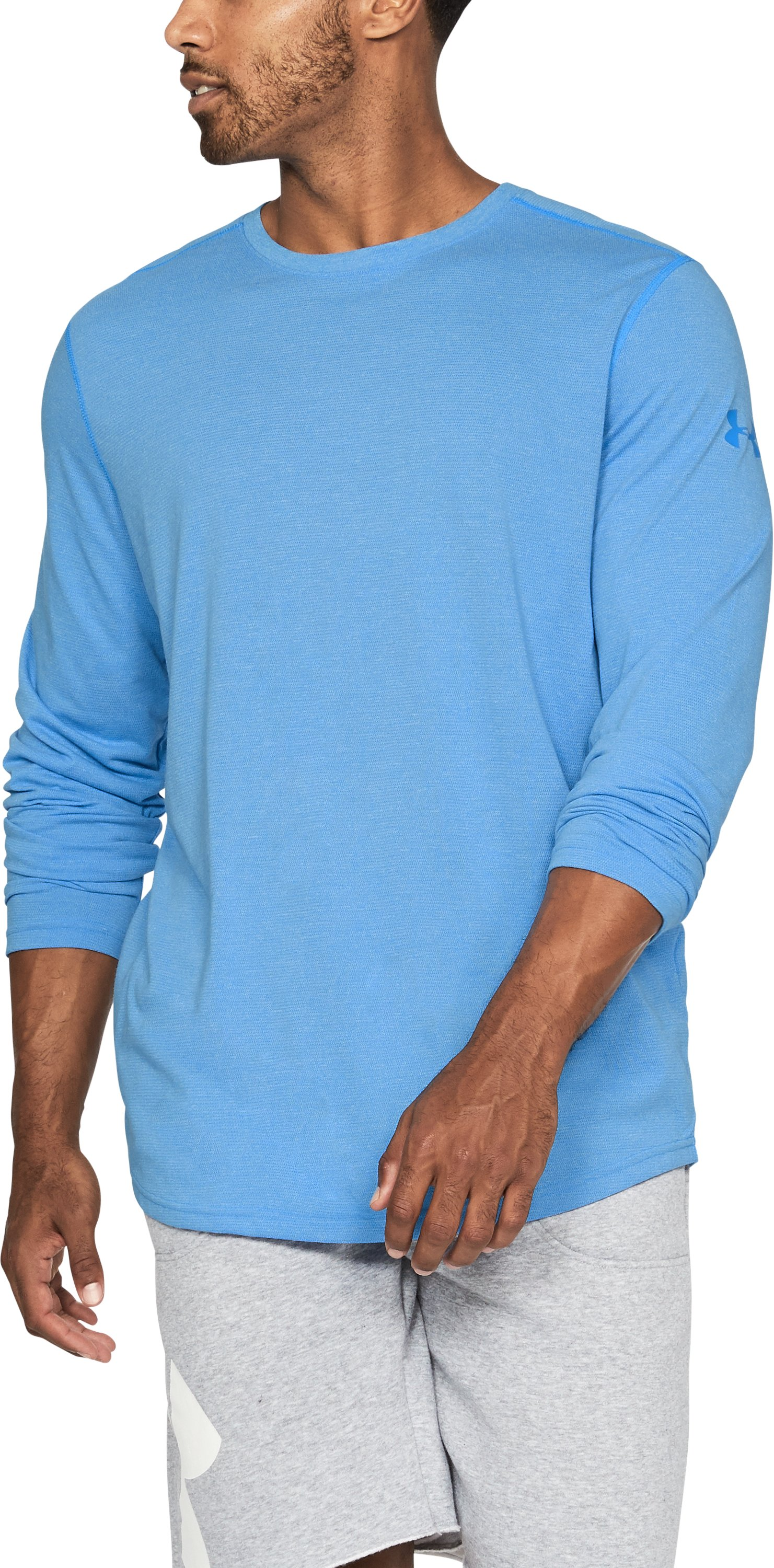 Men's UA Threadborne™ Long Sleeve, MAKO BLUE, undefined